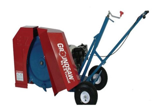 A picture of the E-Z 9100 Trencher